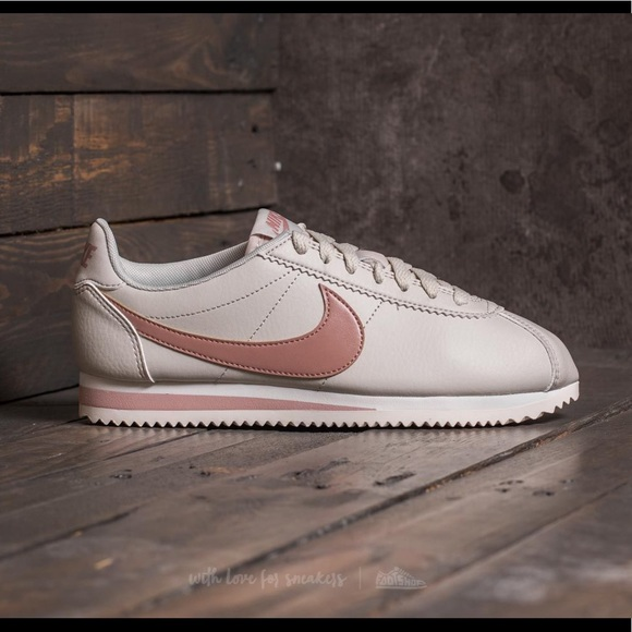 new style 0c51c d990f Nike Cortez in light bone/particle pink. NWT